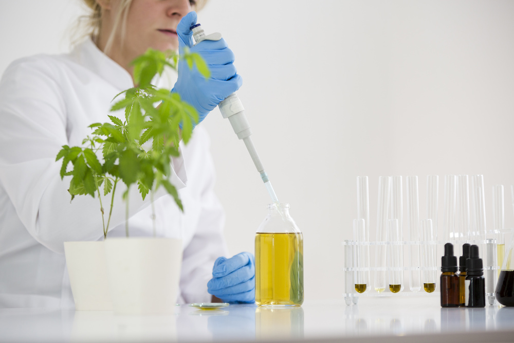 laboratory testing with CBD oil