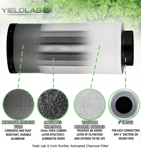 6 inch carbon filter infograph