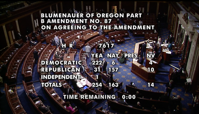 Blumenauer-McClintock-Norton-Lee amendment voting